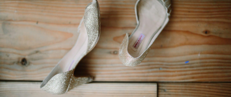chaussures dorées Patricia Blanchet